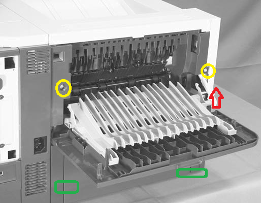 Ghost Or Smeared Print In The Hp Laserjet P3015 Fuser