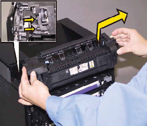 Restart Printer - Reseat Fuser Message on the Dell 2130CN