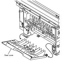 Kyocera FS-1028MFP rear cover