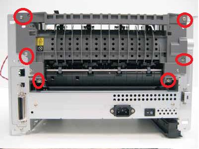 Lexmark E260, E360, E460 exit assembly removal 2