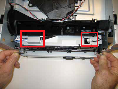 Lexmark E260, E360, E460 fuser connector removal