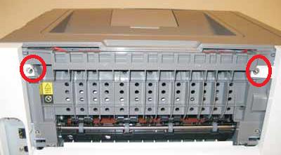 Lexmark E260, E360, E460 rear cover removal