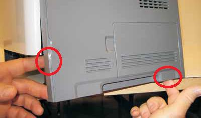Lexmark E260, E360, E460 right cover removal 3