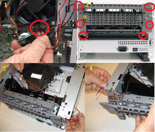 Dell-3335dn-rear-exit-guide-asy-removal