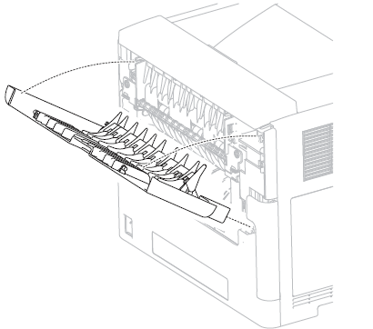Dell-5230-5230n-5230dn-rear-cover-removal