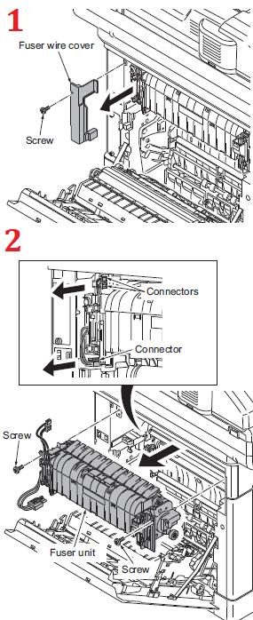Kyocera FS-C2126MFP Fuser Replacement Procedure - FK-590