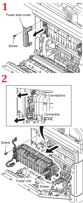 Kyocera FS-C2626MFP Fuser Replacement Procedure - FK-590