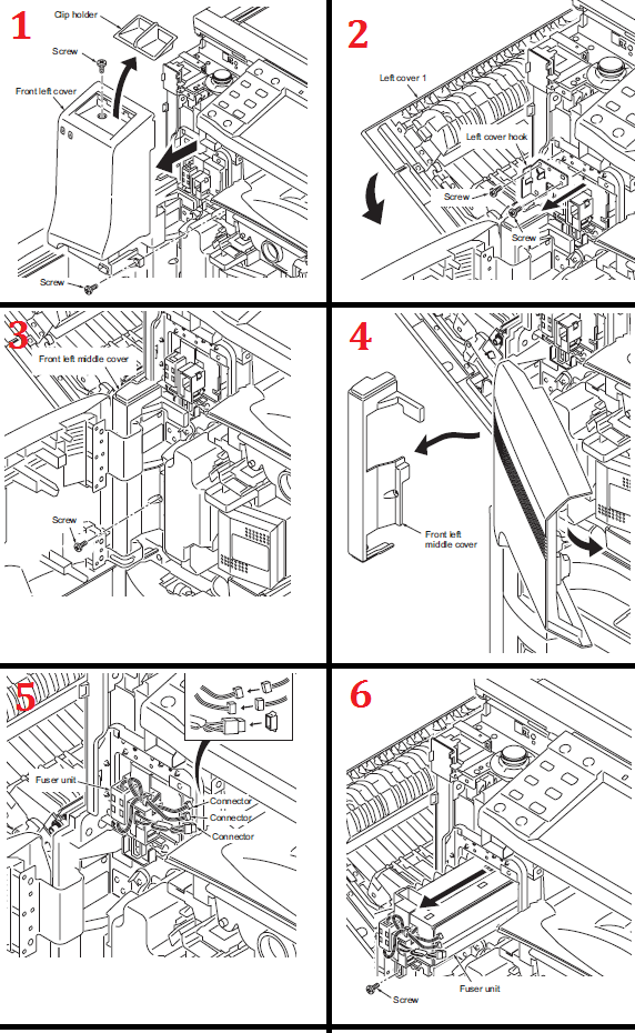 Kyocera KM-3040 Fuser Replacement Procedure