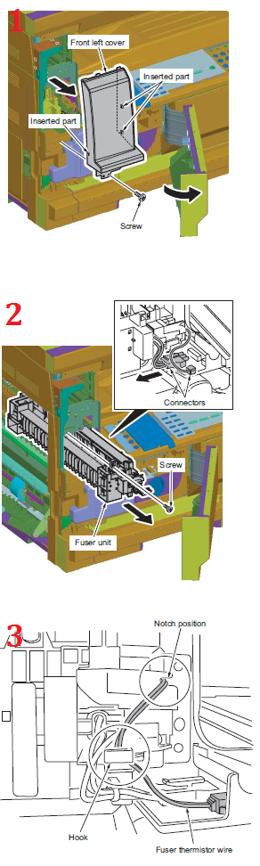 Kyocera TASKalfa 220 Fuser Replacement Procedure - FK-460, 302KK93041