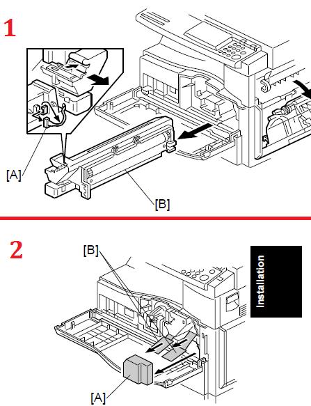 Ricoh Fax 4410NF, 4410L PCU Drum Replacement