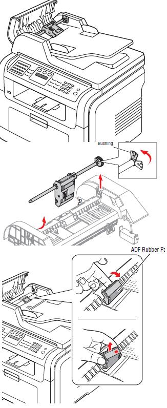 Samsung SCX-4720FN ADF Multiple Feeding Troubleshooting