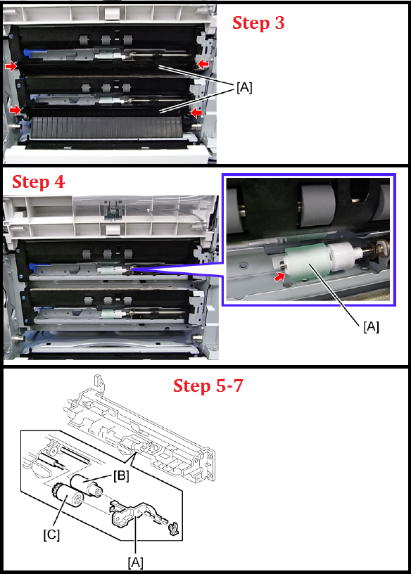 Ricoh Aficio MP 2852 Feed Roller Kit Replacement