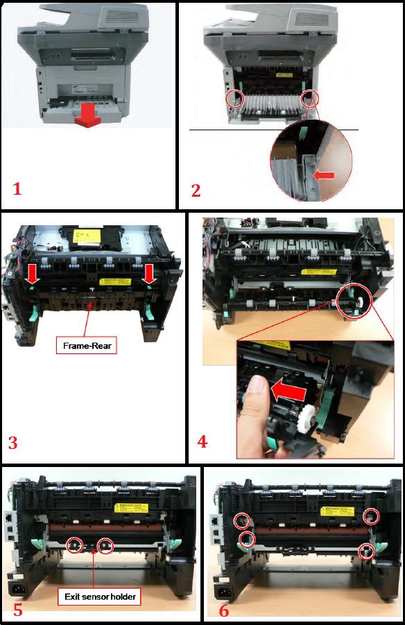 Samsung SCX-5739FW Fuser Replacement