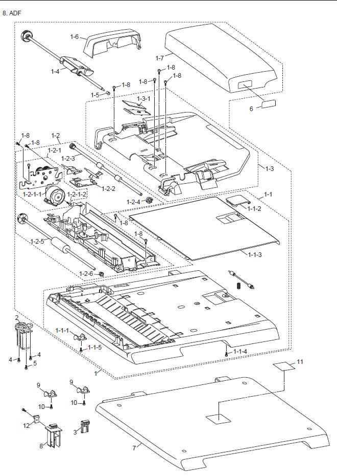 brother dcp 7032 parts list and illustrated parts diagrams rh fortwayneprinterrepair com Cartoon Scanner Flatbed Scanner