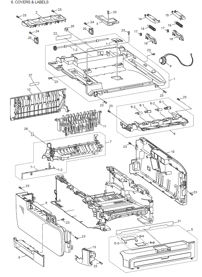 Brother Dcp 7040 Parts List And Illustrated Parts Diagrams