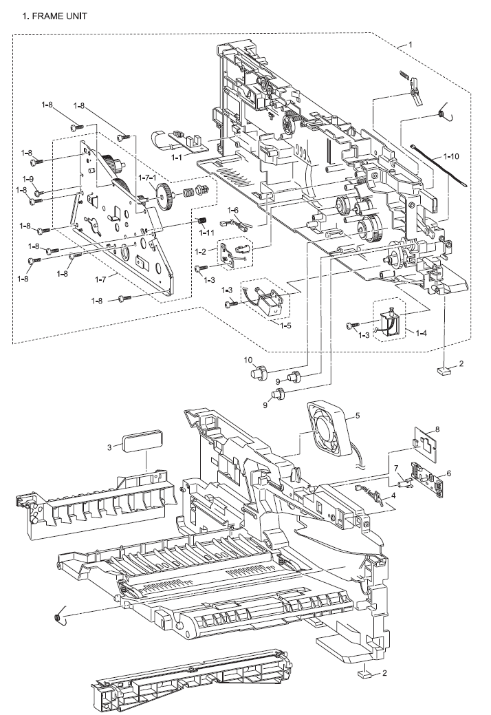 Brother DCP 7030 Parts List and Parts Diagrams