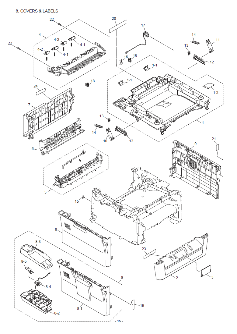 Brother Mfc 7360  N Parts List And Illustrated Parts Diagrams