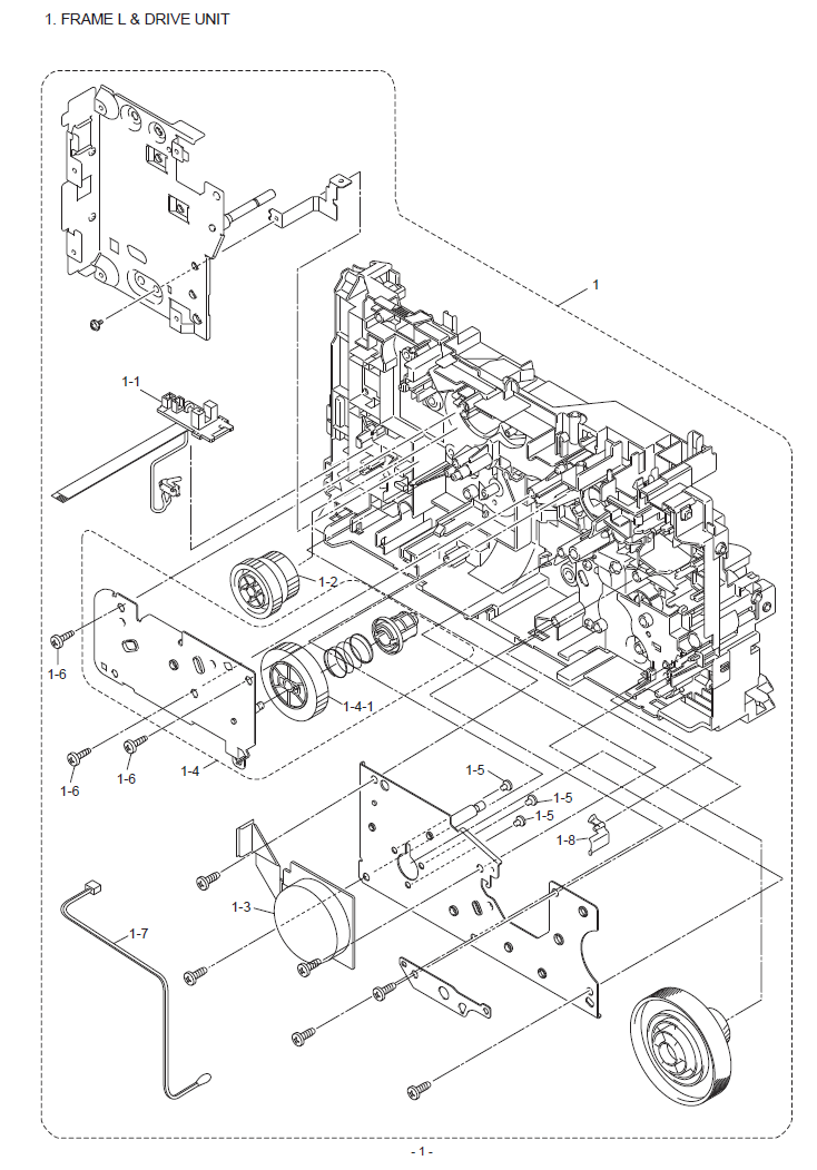 brother dcp 7055  w parts list and illustrated parts diagrams