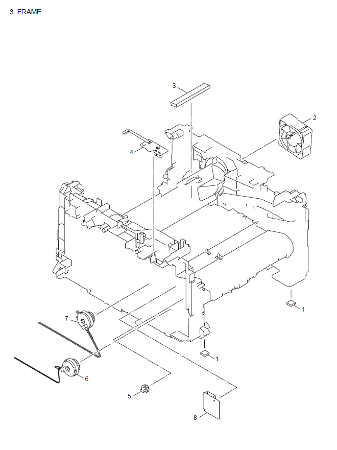 Brother DCP 7057/E/W Parts List and Parts Diagrams
