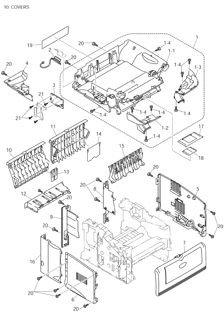 Brother Mfc 8820d  Dn Parts List And Illustrated Parts Diagrams