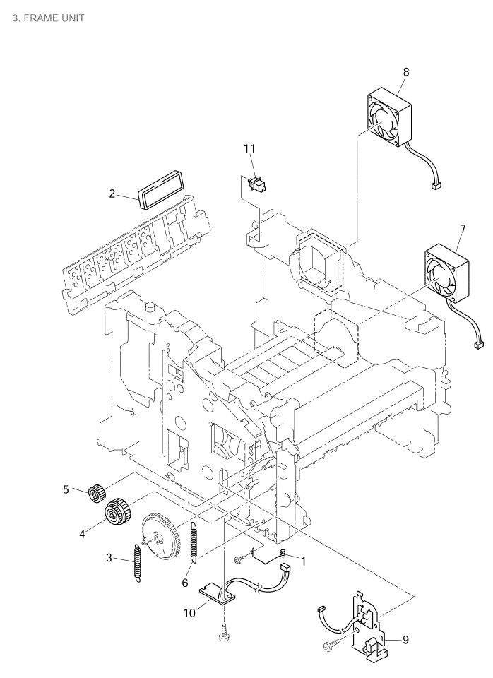 Brother Mfc 8420 Parts List And Illustrated Parts Diagrams