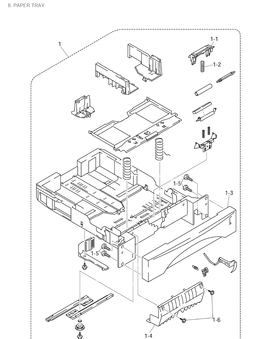 Brother Mfc 8420 Parts List And Illustrated Diagrams Draw The Other Of Diagram Then Click On Paper Tray