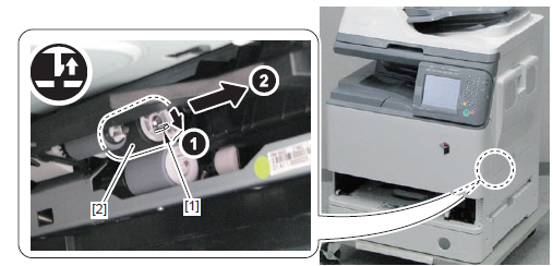 Canon imageRUNNER C2550 cassette feed roller removal