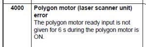 Kyocera Multi-function FS1028MFP C4000 Error Code