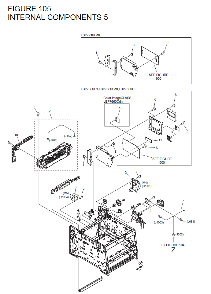 Canon I Sensys Lbp7210cdn Parts List And Diagrams