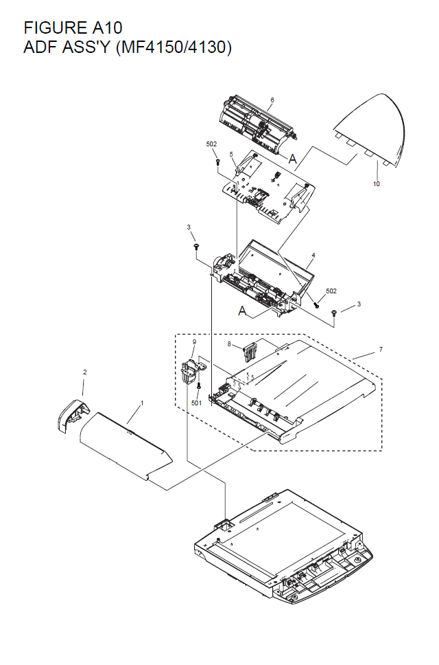Canon Imageclass Mf4150 Parts List And Diagrams