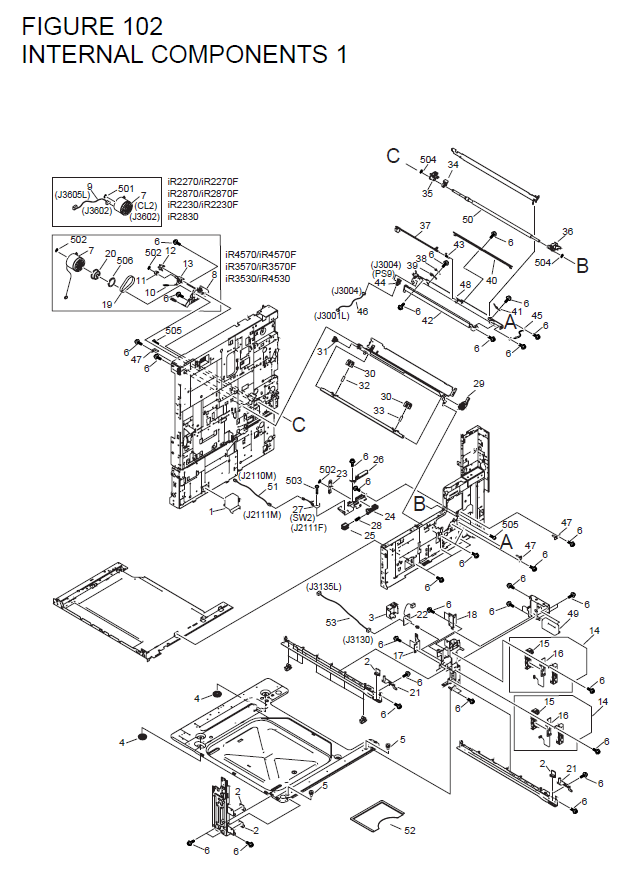 Canon Imagerunner4530 Parts List And Diagrams