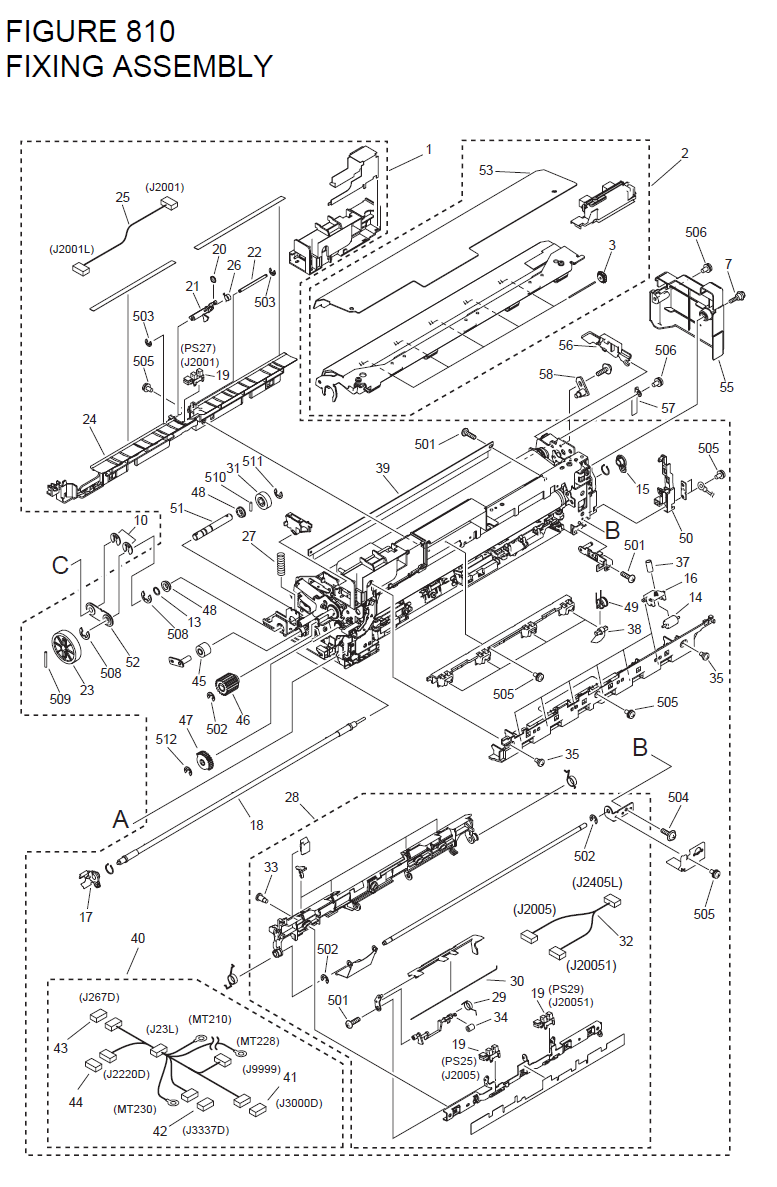 Canon imageRUNNER C4080 Parts List and Diagrams