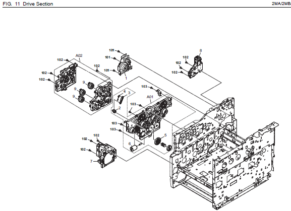 Kyocera Ecosys M6026cdn Parts List And Diagrams