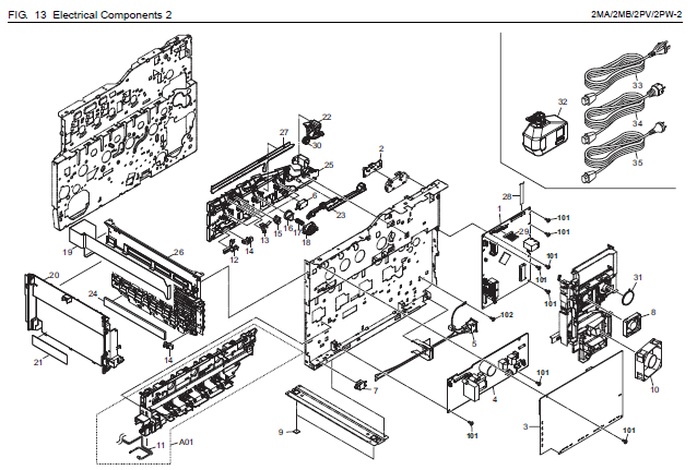 Kyocera Fs C2126mfp Parts List And Diagrams