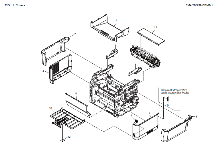 Kyocera Ecosys Fs 1320mfp Parts List And Diagrams