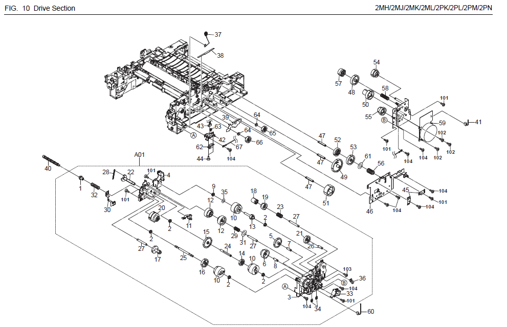 Kyocera Ecosys M2535dn Parts List And Diagrams