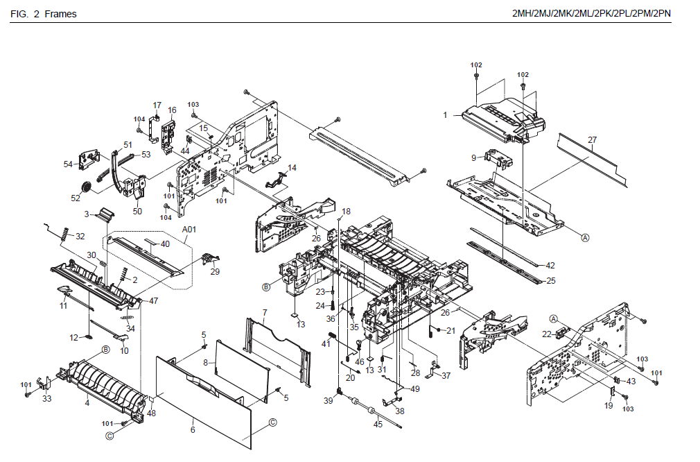 Kyocera       FS   1035MFP Parts List and    Diagrams