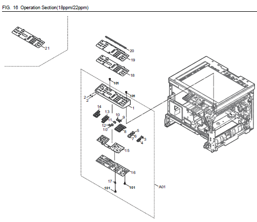kyocera taskalfa 1800 parts list and diagrams