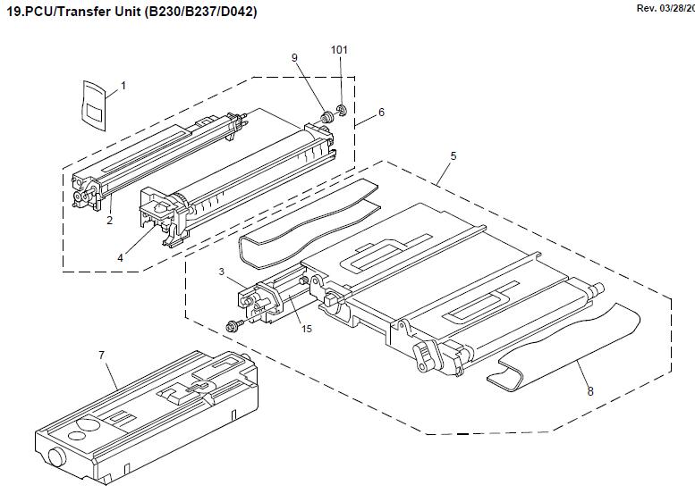 ricoh aficio 1015 k c1 service repair manual