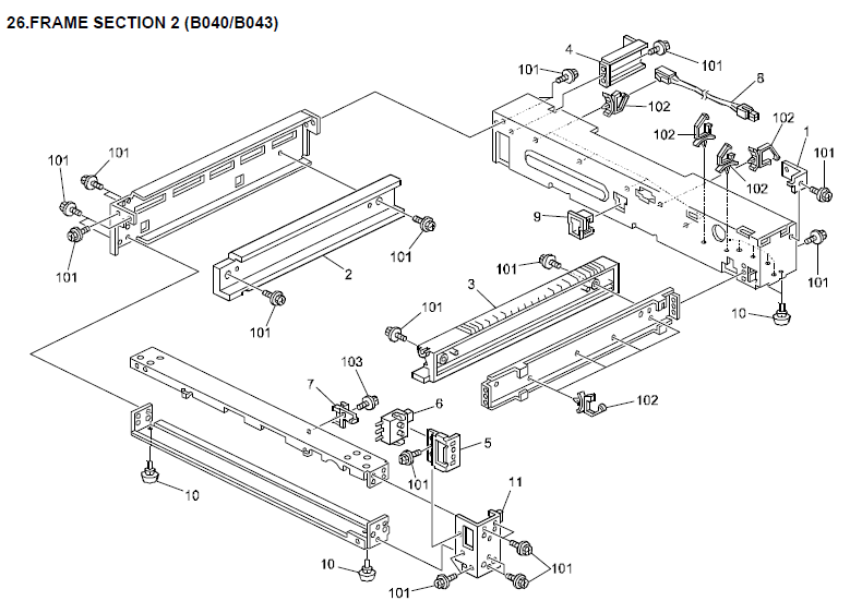 gestetner 1802d parts list and diagrams