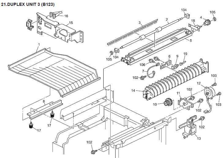 Gestetner Dsm615  Dsm618  Dsm618d Parts List And Diagrams