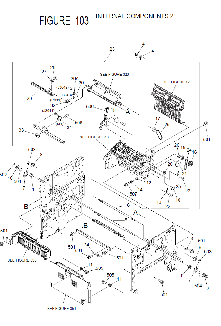 Hp Color Laserjet 3600 Internal Components Parts Diagram 3 Of 5