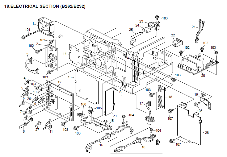 Gestetner Dsm416 Parts List And Diagrams