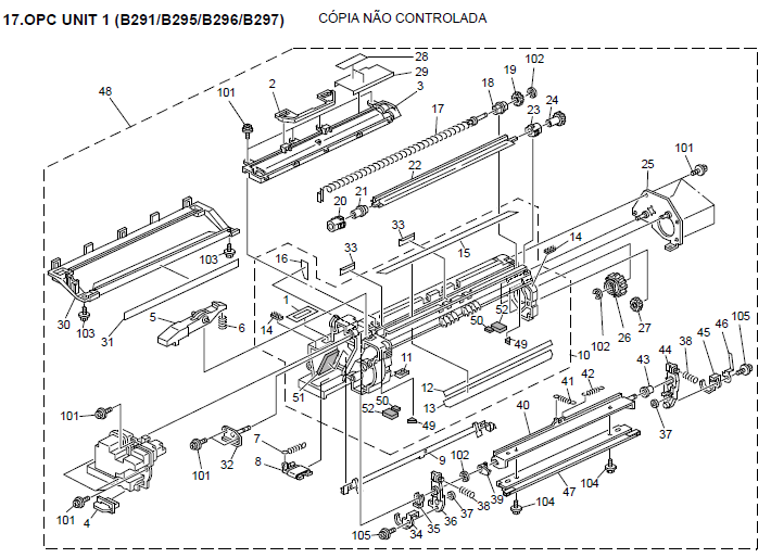 Lanier LD345 Parts List and Diagrams on