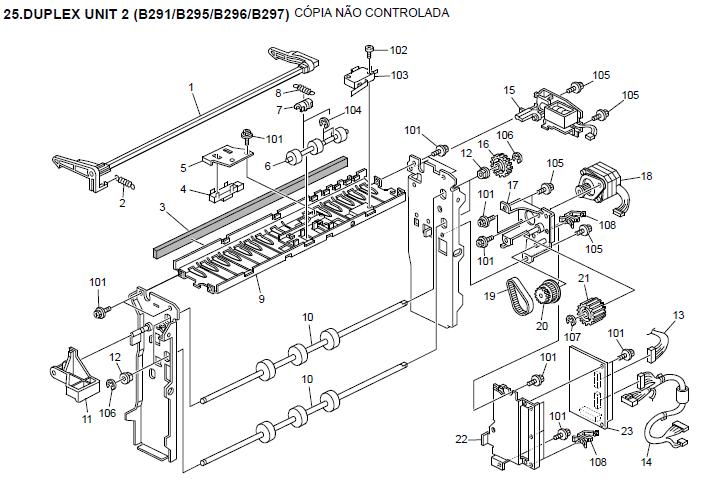 kyocera duplexer du 25 service repair manual parts catalogue