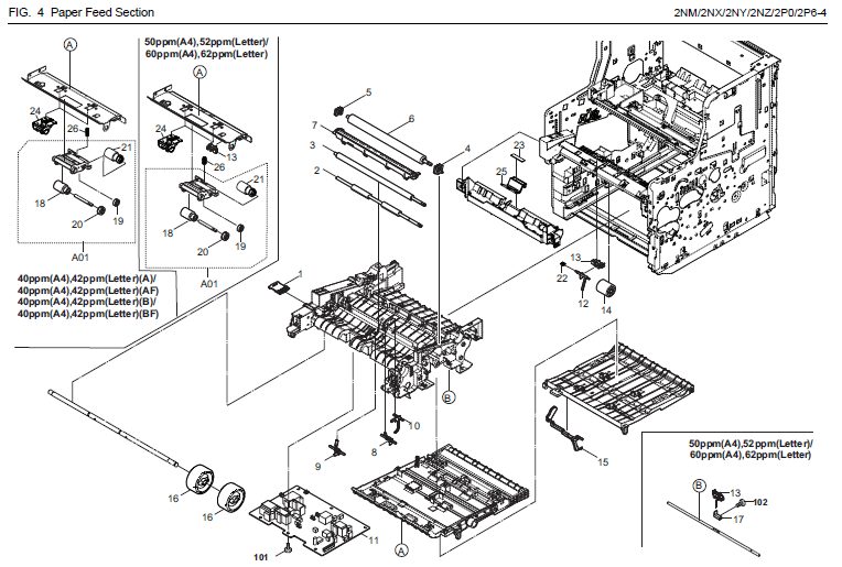 Kyocera Ecosys M3040idn Parts List And Diagrams
