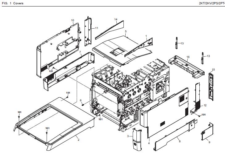 kyocera ecosys p6026cdn parts list and diagrams