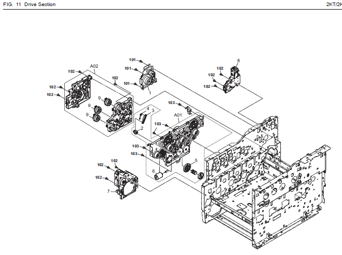 Kyocera Ecosys P6026cdn Parts List And Diagrams