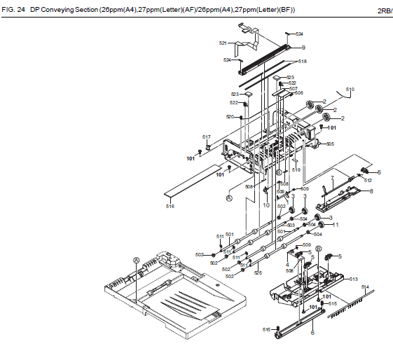 Kyocera Ecosys P5021cdn Parts List And Diagrams