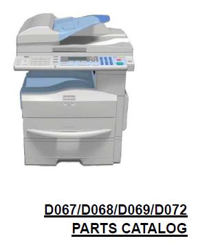 Lanier LD 117F, LD 117SPF, LD 117 Parts List and Diagrams